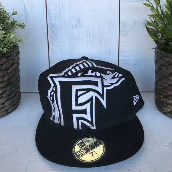 59Fifty Other - Florida Marlins black baseball cap fitted new